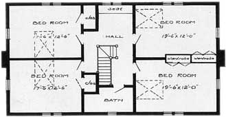 Second Floor Plans for Traditional Home
