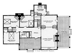 Bungalow Home Floor Plan, First Floor.