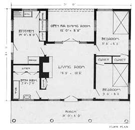 Home minimalist cottage house plans small for Rustic cottage floor plans